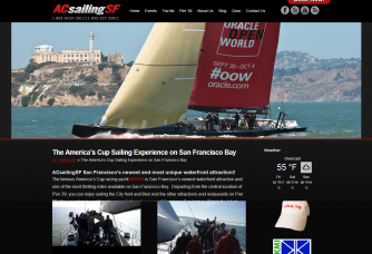 USA 76 Americas Cup Yacht sailing by Alcatraz