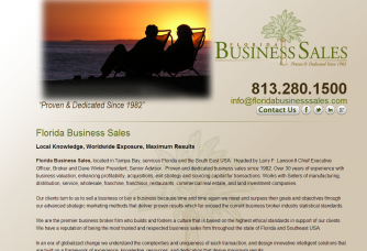 Florida Business Sales homepage screenshot