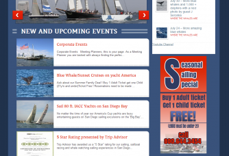 screenshot new NextLevelSailing site