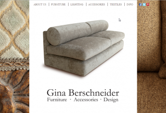 screenshot gina berschneider website