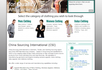 screenshot new website chinasourcing